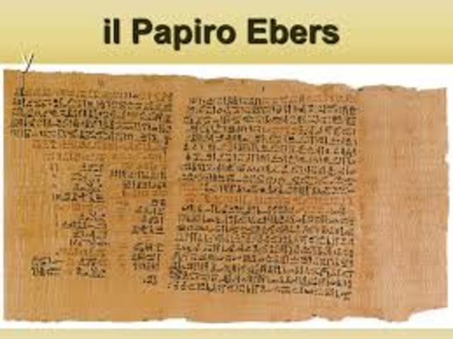 EGIPCIOS Papiro Ebers (Primer escrito) - EDAD ANTIGUA 1500 a.c