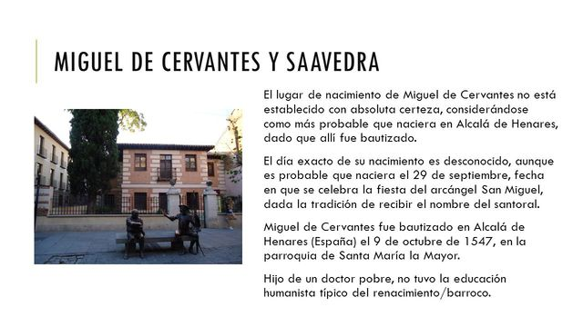 Nacimiento de Cervantes