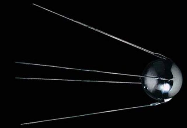 Sputnik I launched into orbit