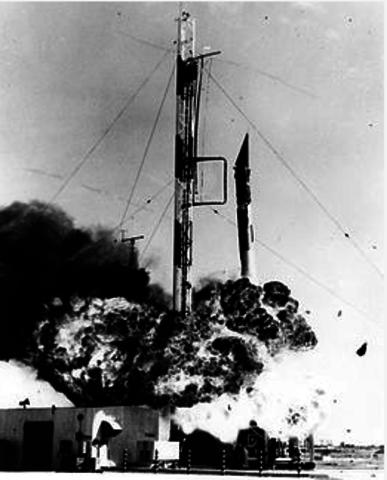 Failed US Vanguard TV3 Rocket (Flopnik)