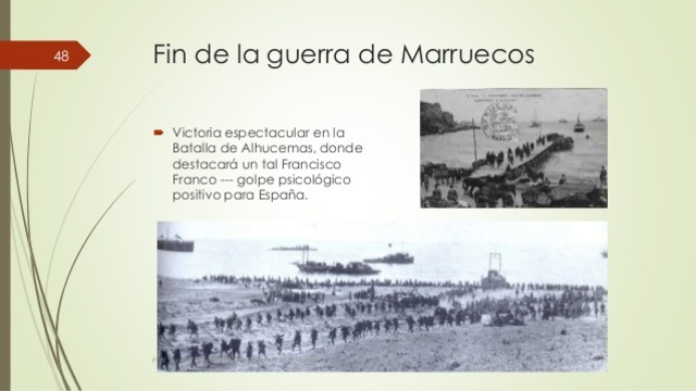 Fin de la guerra en Marruecos