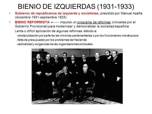 Bienio Reformista(1931-1933)