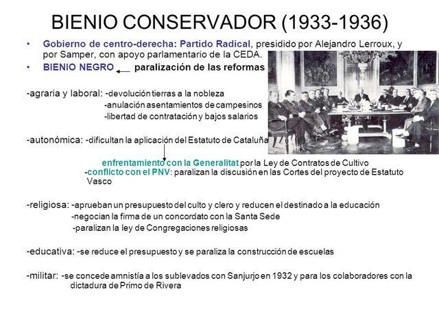 Bienio conservador(1933-1936)