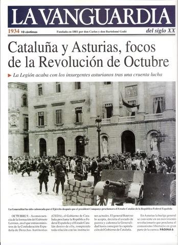 La revolución de octubre en Cataluña
