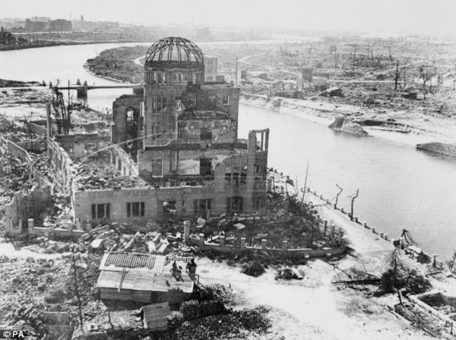 First Atomic bomb is dropped on Hiroshima and two days later on Nagasaki