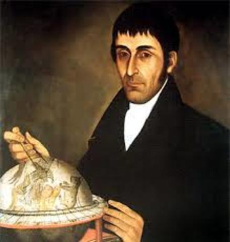 1768 - 1816. Francisco José de Caldas.