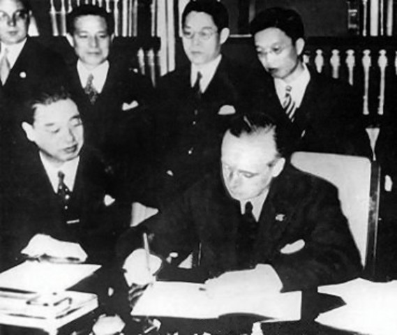 Italy, Germany & Japan signed Anti-Comintern Act, against Russia