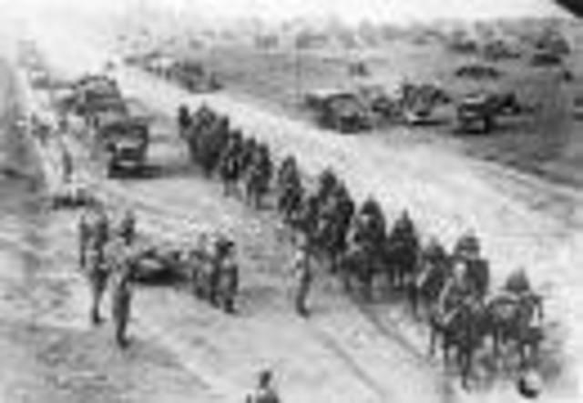 Germany invades Poland with Blitzkrieg warfare.