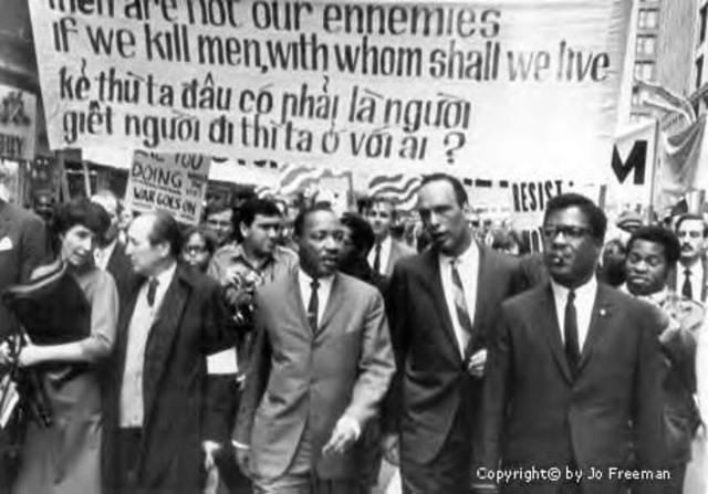 Martin Luther King Denouncing the war