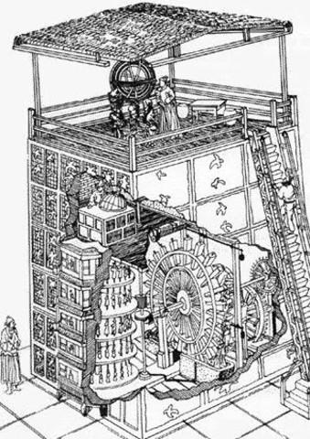 En China, Yi Hsing fabrica un reloj con engranajes