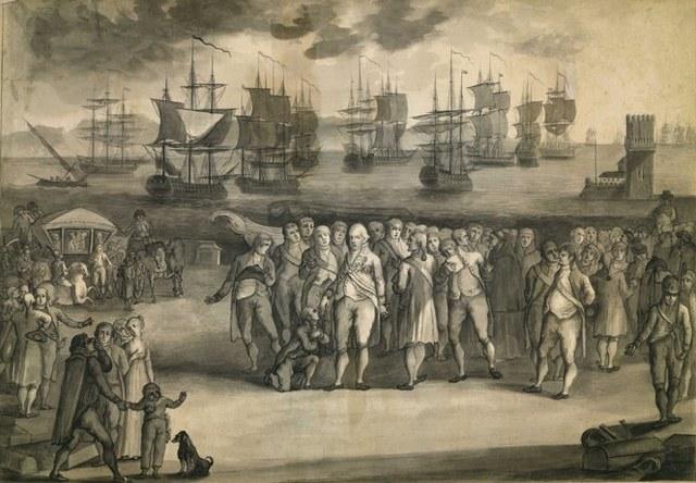 Família Real Portuguesa embarca para o Brasil