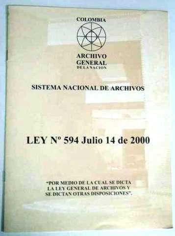 Ley 594 de 2000, Ley General de Archivos