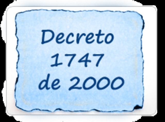 Decreto 1747 de 2000.