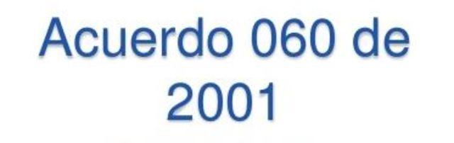 Acuerdo 060 de 2001, AGN.