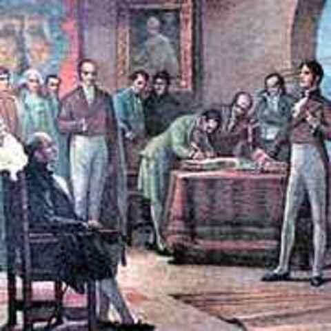 Firma acta de independencia