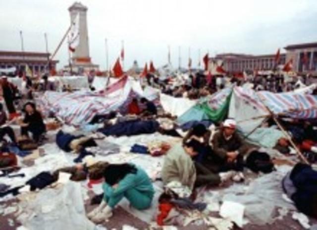 Revueltas en la plaza de Tiananmen, China