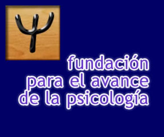 1977 SE CREA LA FUNDACION PARA EL AVANCE DE LA PSICOLOGÍA.