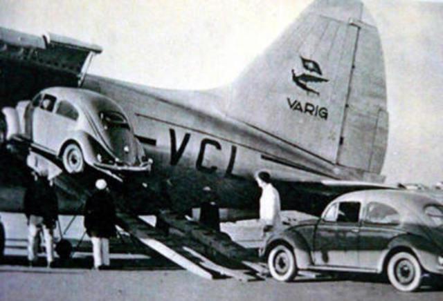 Varig opera passageiros/correios/carga