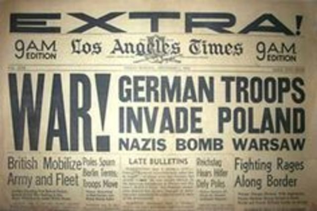 Germany invades Poland with Blitzkrieg warfare