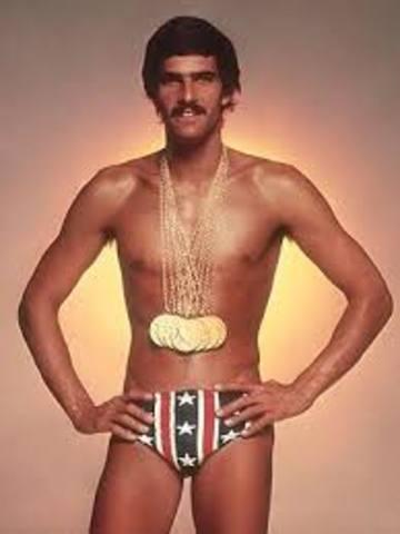 Mark Spitz wins 7 Gold Medals