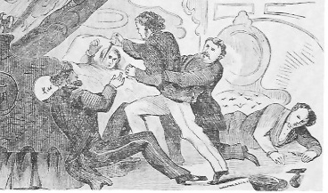 Powell Attempts To Kill Secrety Of State Seward ( about 10:00 )