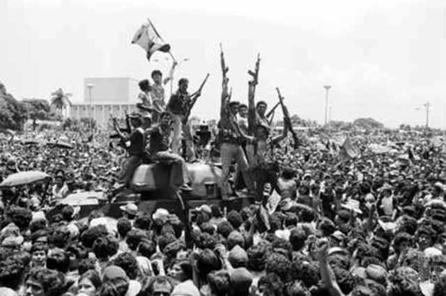 Guerrilla del Frente Sandinista en Nicaragua