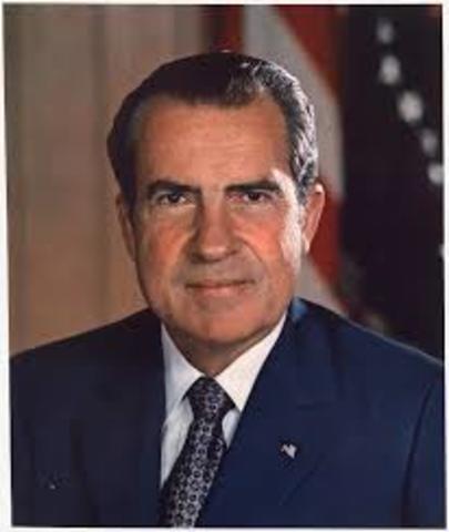 Richard Nixon, presidente de Estados Unidos
