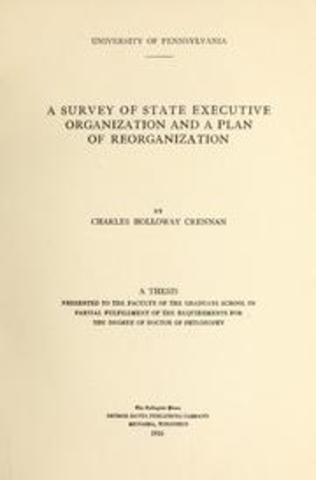 Reorganization of State Government, chap 22