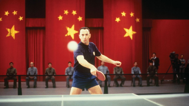 Forrest becomes a ping pong master