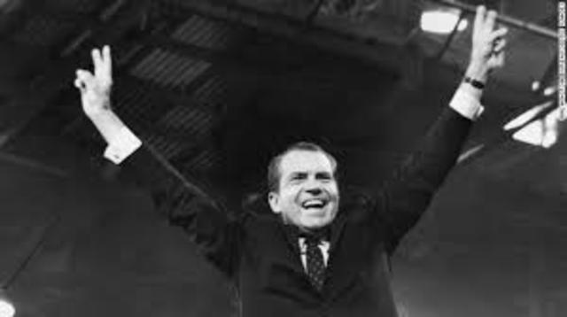 Nixon re-elected