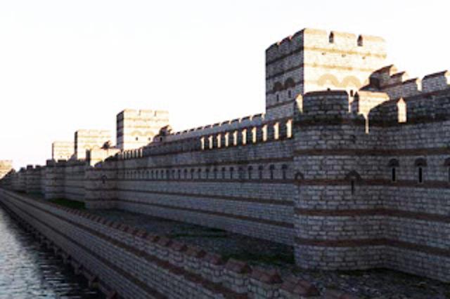 BYZANTINE: Theodosius ll Builds Great wall.