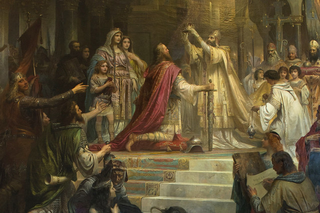 FRANCE: Charlemagne Crowned by Pope
