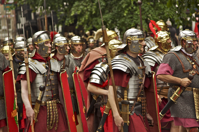 ENGLAND: Roman legions depart