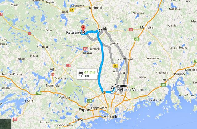 Mardi - 15h00 - En route pour Kitäjä