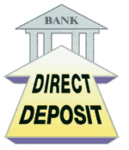 The check is processed as Direct Deposit