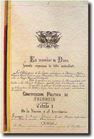 CONSTITUCION POLITICA DE 1886.