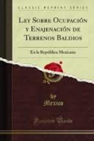 Ley sobre ocupación y Enajenación de Terrenos Baldíos