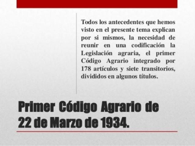 Código Agrario  de Abelardo L. Rodríguez