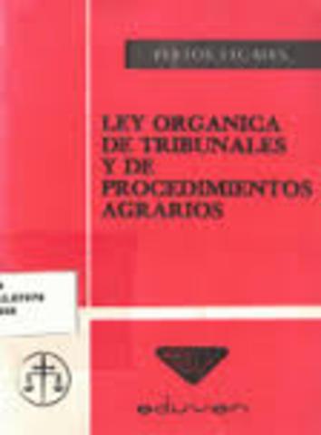 Ley Orgánica de los Tribunales Agrarios