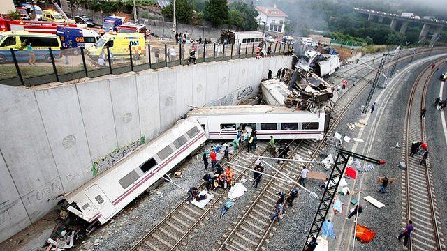 Accidente ferroviario en Santiago de Compostela