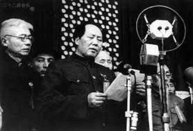 Se implantó la República Popular China