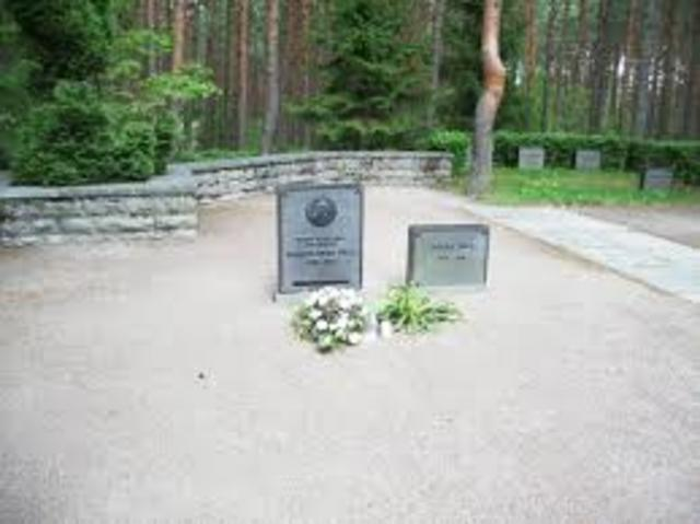 Päts maeti Venemaale