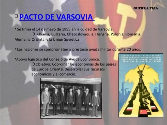 Se constituyó el Pacto de Varsovia