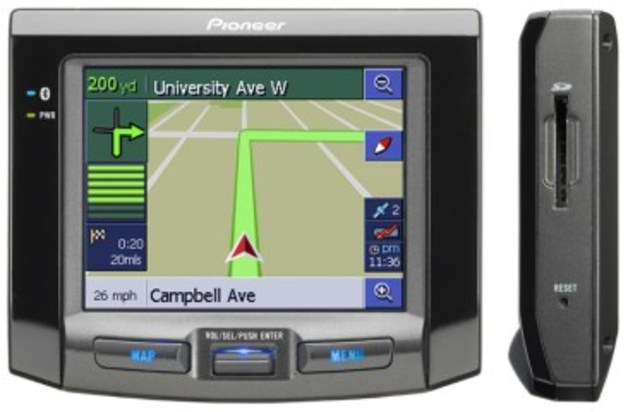 The First in-car Satellite Navigation System is sold by Pioneer