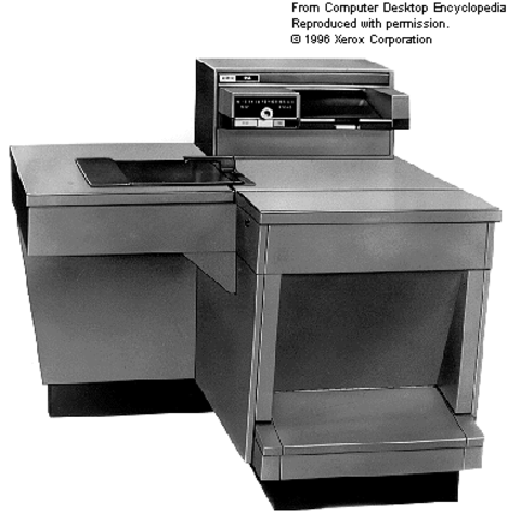 Xerox launches the first commercial copier