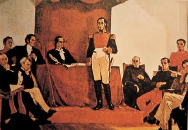 Renuncia de Bolívar