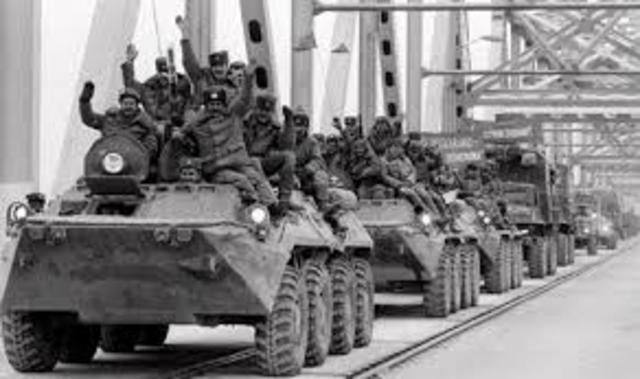 USSR invades Afghanistan 1979