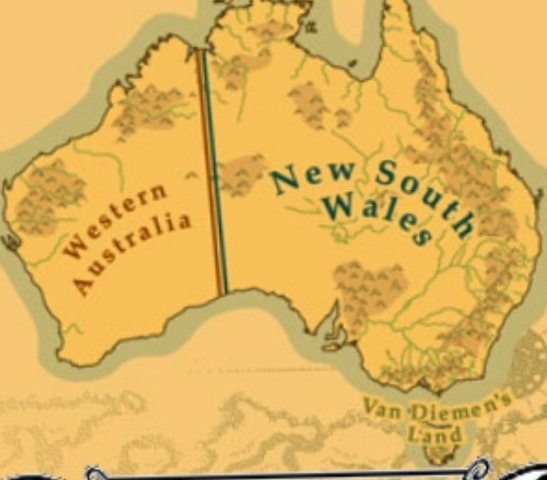 1825-The border separating Western Australia from New South Wales was moved West