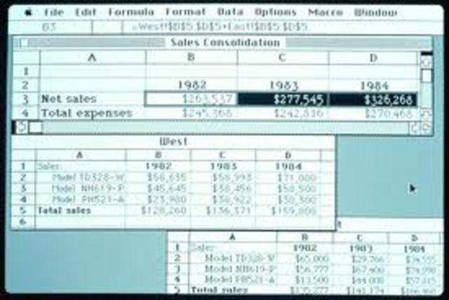 Primera versión de Excel para Mac