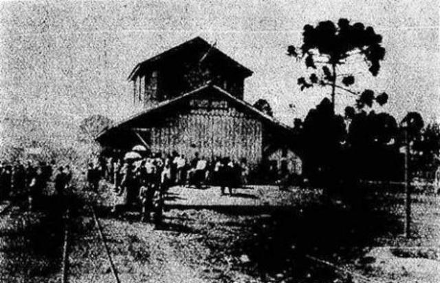 Inauguração do primeiro trecho da estrada de ferro